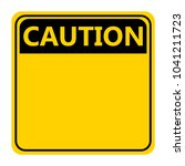 symbol yellow caution sign icon ... | Shutterstock .eps vector #1041211723