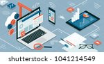 web design  development and... | Shutterstock .eps vector #1041214549
