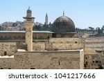temple mount in jerusalem  with ... | Shutterstock . vector #1041217666