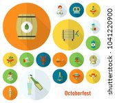 oktoberfest beer festival. long ... | Shutterstock .eps vector #1041220900