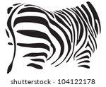African Burchell Pattern On...