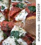 mozzarella tomato salmon pizza   Shutterstock . vector #1041224539