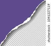realistic vector violet ripped... | Shutterstock .eps vector #1041227119