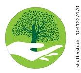 hand holding tree  logo element | Shutterstock .eps vector #1041227470