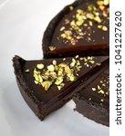 no bake chocolate ganache tart   Shutterstock . vector #1041227620