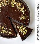 no bake chocolate ganache tart   Shutterstock . vector #1041227839