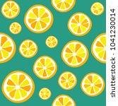 lemon seamless vector pattern.... | Shutterstock .eps vector #1041230014