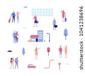 tourism   flat design style set ... | Shutterstock .eps vector #1041238696