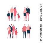 families   flat design style... | Shutterstock .eps vector #1041238714