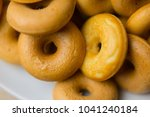 the many donuts. donuts dough... | Shutterstock . vector #1041240184