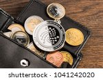 silver iota crypto currency... | Shutterstock . vector #1041242020