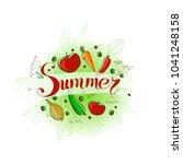 vector summer handwriting... | Shutterstock .eps vector #1041248158