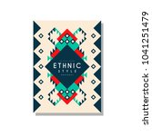 ethnic style abstract original...   Shutterstock .eps vector #1041251479