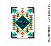 design ethnic style card... | Shutterstock .eps vector #1041251560
