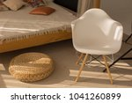 white armchair by the bed.... | Shutterstock . vector #1041260899