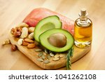 healthy food. ingredients full... | Shutterstock . vector #1041262108