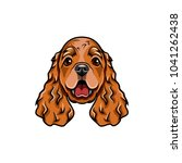 english cocker spaniel head.... | Shutterstock .eps vector #1041262438