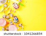 sweet baking concept for easter ... | Shutterstock . vector #1041266854