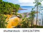forest river shore top view... | Shutterstock . vector #1041267394