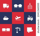 logistic and shipping icons on... | Shutterstock .eps vector #1041268300