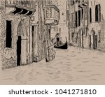 venetian canal and unique... | Shutterstock .eps vector #1041271810