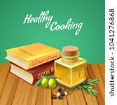 healthy cooking background with ...   Shutterstock .eps vector #1041276868