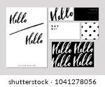 a set of words hello in... | Shutterstock .eps vector #1041278056