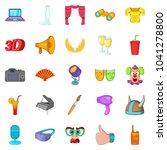 cheer icons set. cartoon set of ... | Shutterstock . vector #1041278800