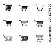 supermarket cart icon set.... | Shutterstock . vector #1041279520