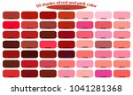 50 shades of red pink colors... | Shutterstock .eps vector #1041281368