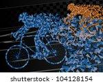 Colorful Sport Road Bike Rider...