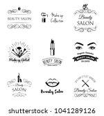 beauty salon design elements in ... | Shutterstock . vector #1041289126