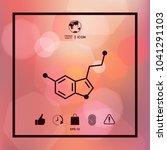 chemical formula icon. serotonin | Shutterstock .eps vector #1041291103