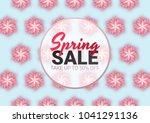 spring sale floral advertizing... | Shutterstock .eps vector #1041291136