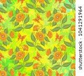 seamless pattern  orange... | Shutterstock . vector #1041291964