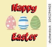 happy easter background. vector ...   Shutterstock .eps vector #1041294403