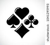 playing card suit icon set....   Shutterstock .eps vector #1041295993