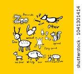 animal sketch   hand drawn zoo... | Shutterstock .eps vector #1041301414