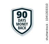 90 days money back shield... | Shutterstock .eps vector #1041303310