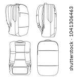 incase city backpack vector... | Shutterstock .eps vector #1041306463