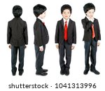 full length set of a boy in... | Shutterstock . vector #1041313996