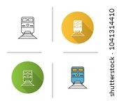 train icon. flat design  linear ... | Shutterstock .eps vector #1041314410