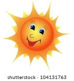 illustration cartoon smiling... | Shutterstock .eps vector #104131763