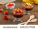 acai berry on glass cup | Shutterstock . vector #1041317938