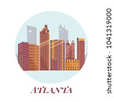 welcome to atlanta poster. view ...   Shutterstock .eps vector #1041319000