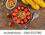 acai berry bowl with... | Shutterstock . vector #1041322780