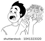 a black and white drawing of a...   Shutterstock .eps vector #1041323320