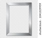 metal frame  isolated. | Shutterstock .eps vector #1041329959