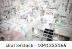 trade show background with an... | Shutterstock . vector #1041333166