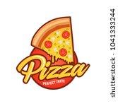 pizza cafe logo  pizza icon ...   Shutterstock .eps vector #1041333244